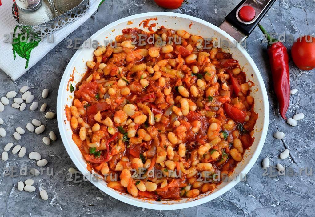 Фасоль в томатном соусе - 86 домашних вкусных рецептов приготовления