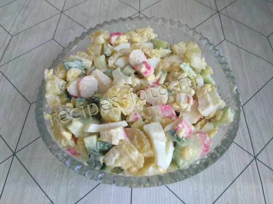 Быстрый и вкусный салат из скумбрии и картошки