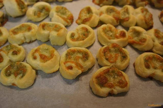 Печенье из слоеного теста рецепты с фото