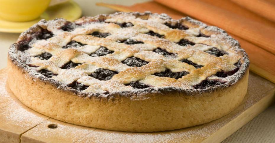 Черничный пирог с иссопом