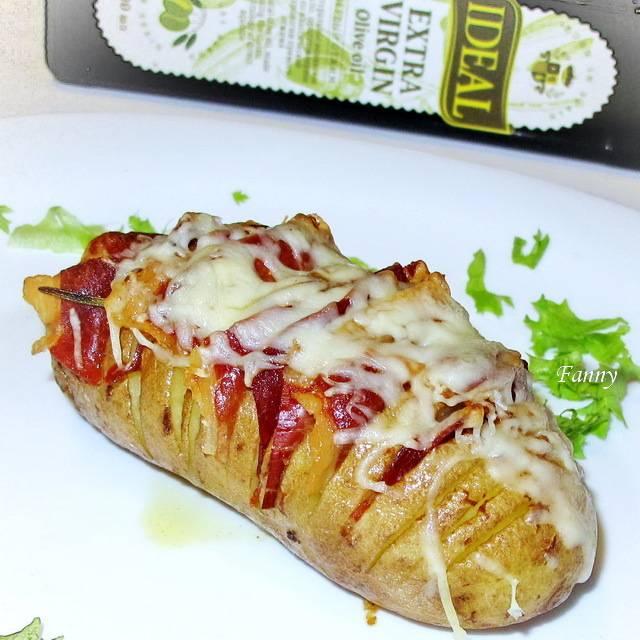 Фаршированный картофель с сыром и беконом - закуска на все случаи жизни