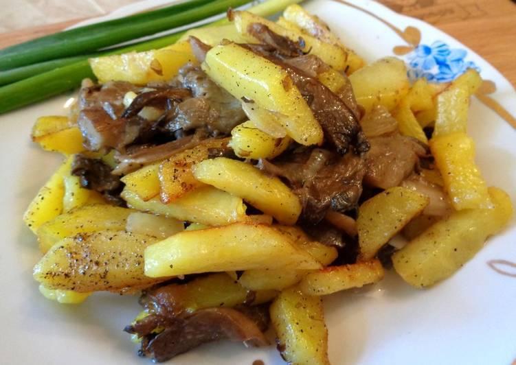 Как приготовить вёшенки с картофелем в духовке