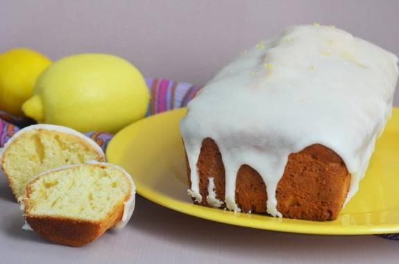 Кекс на йогурте с шоколадом и лимонным курдом