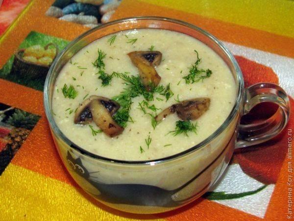 Суп-велюте из цветной капусты с шампиньонами