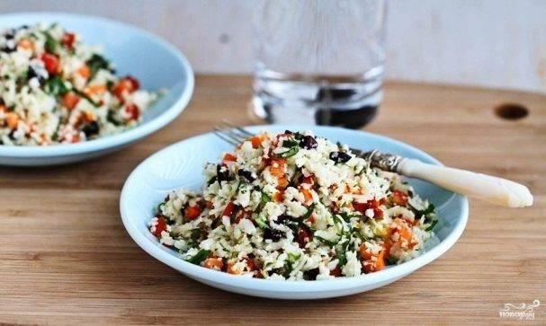 Легкий салат к ужину