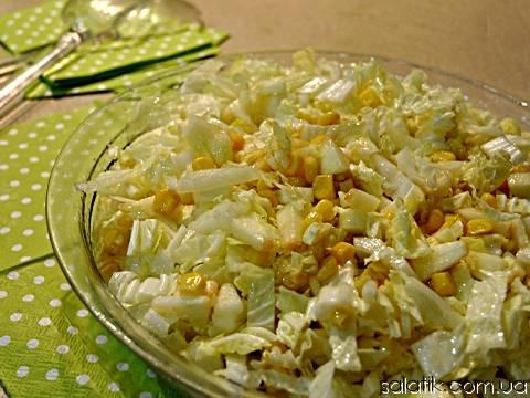 Салат с пекинской капустой и болгарским перцем, вкусные рецепты с фото
