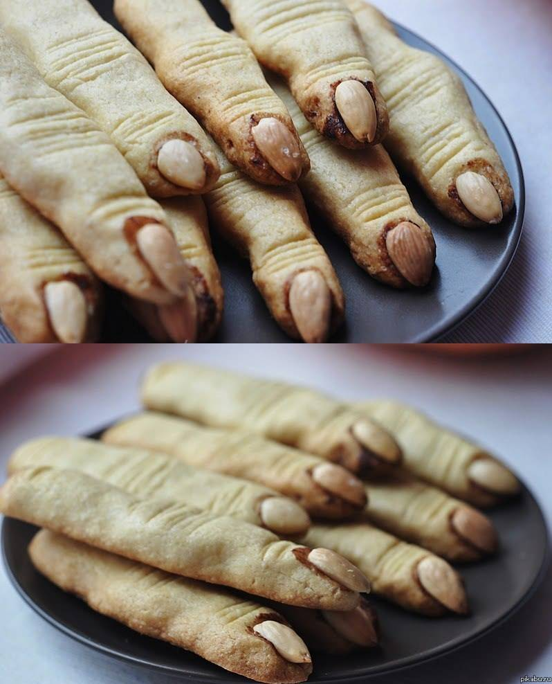 Печенье на хэллоуин «пальцы»