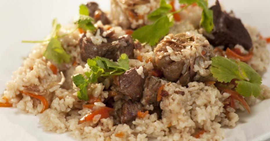 Плов из говядины с изюмом и барбарисом, рецепт с фото