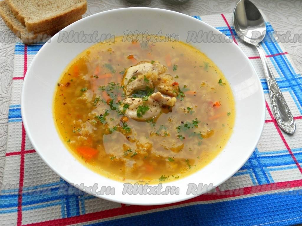 Чечевичный суп с грудинкой