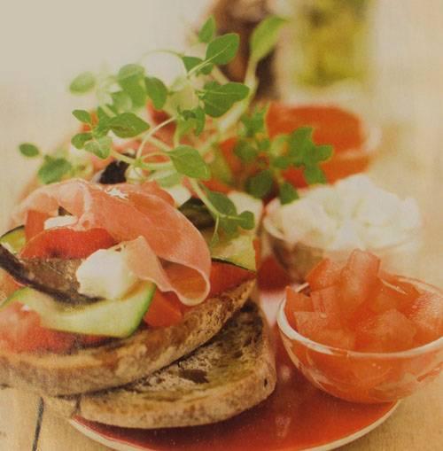 Открытый бутерброд - рецепты