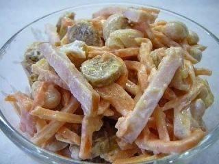 Салат с фасолью и корейской морковью: рецепты с фото
