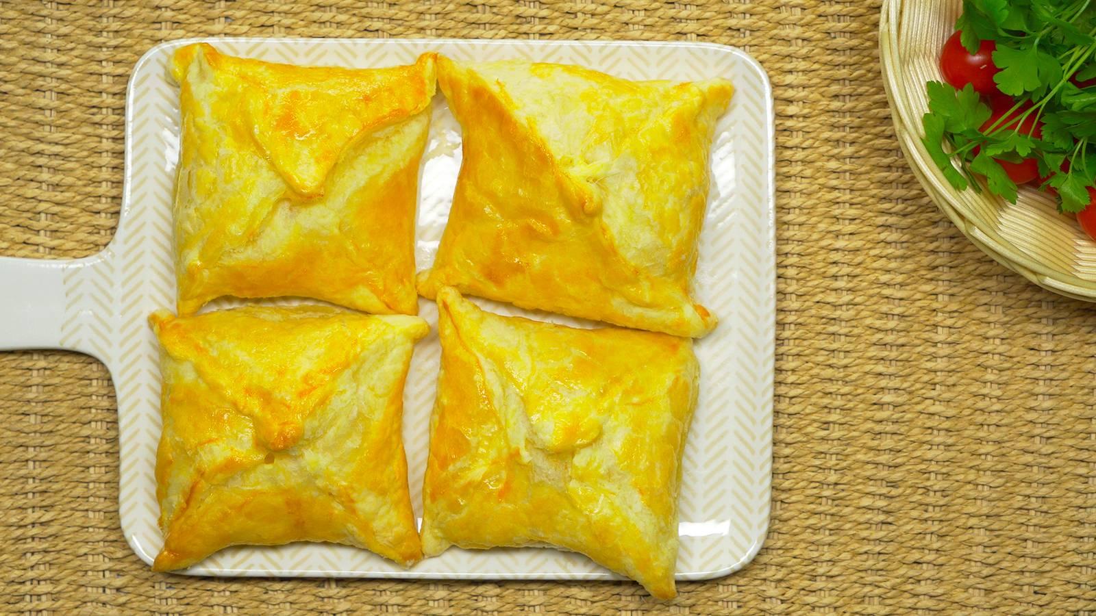 Изумительные слойки со сливочным сыром - хрустящие снаружи, нежные внутри