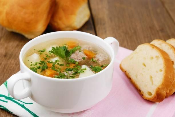 Ароматный картофельный суп с фрикадельками