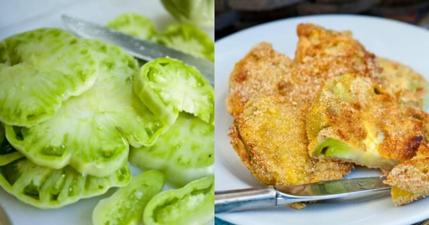 Пирог с зелёными помидорами