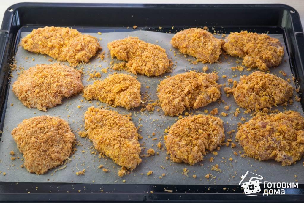 Куриные грудки в панировке: готовим быстро и вкусно