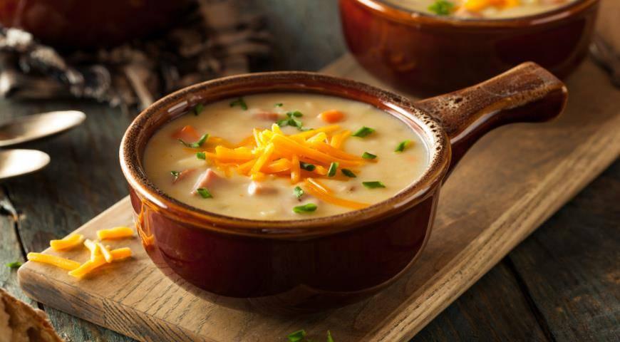 Сырный суп с плавленым сыром и курицей: 4 рецепта с фото