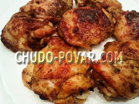 Куриные бедра, запеченные в духовке - 6 пошаговых фото в рецепте