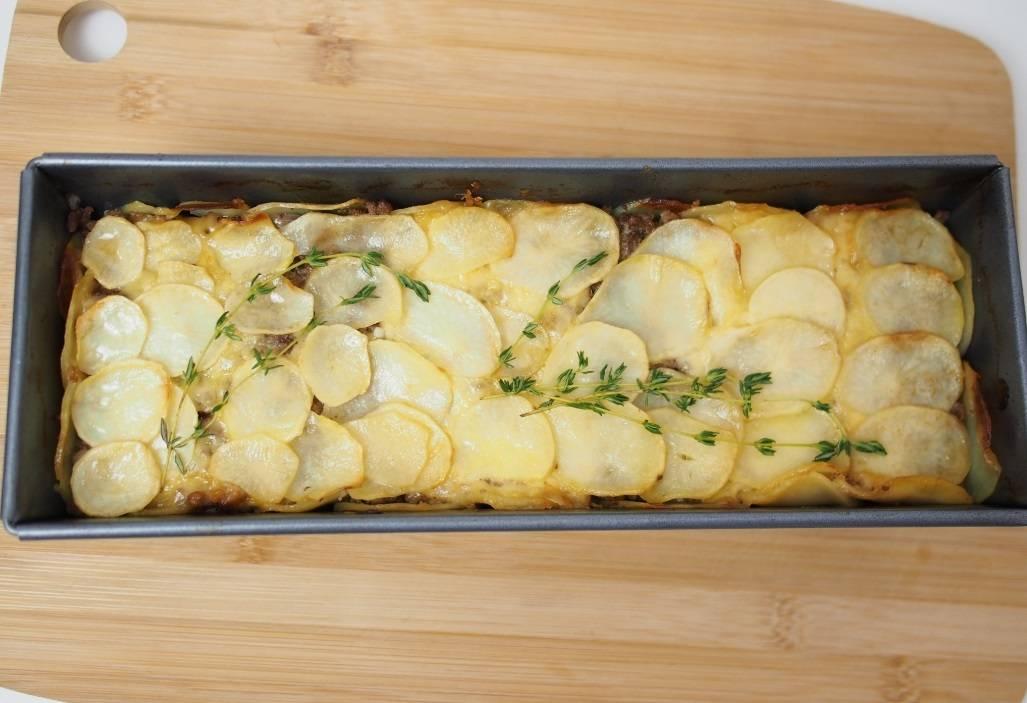 Запеканка с фаршем и картошкой  как приготовить, фото
