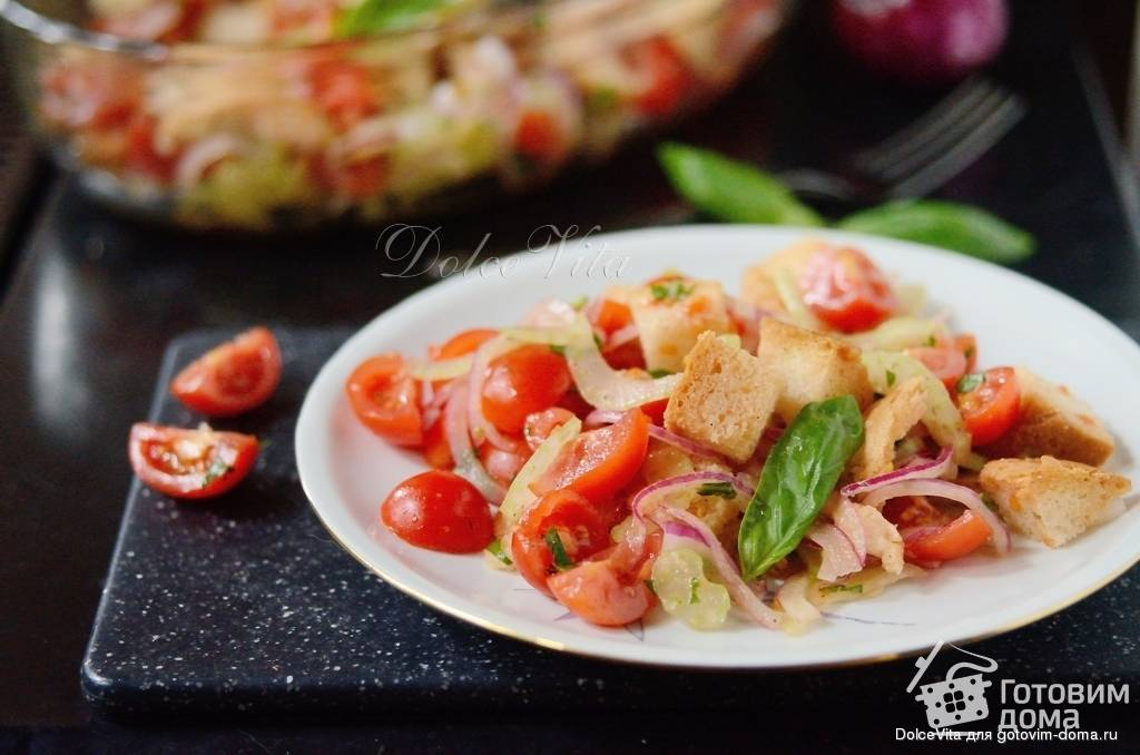 Салат панцанелла рецепт с фото