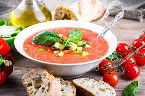 """Холодный суп """"гаспаччо"""""""