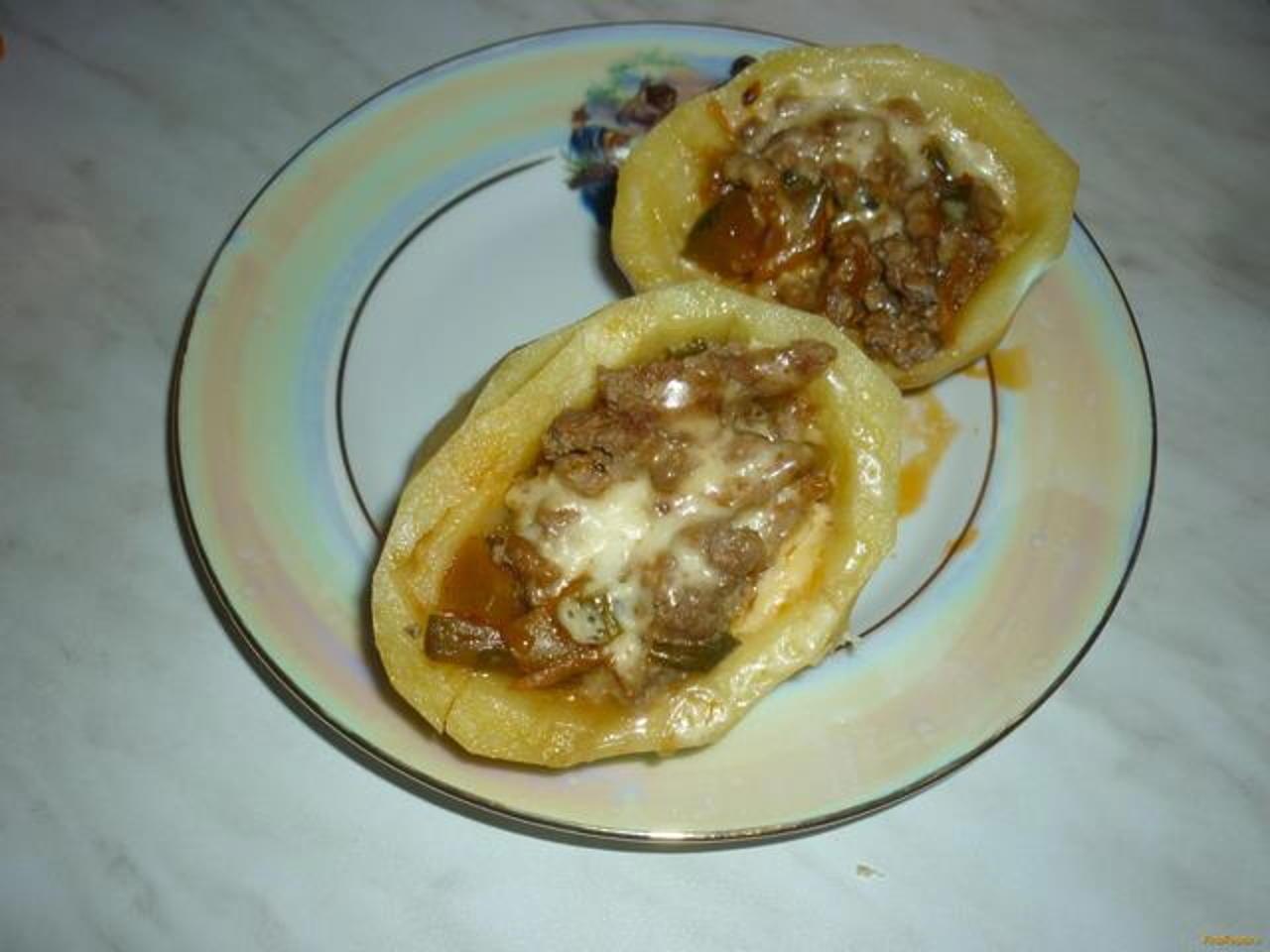 Фаршированная картошка в мультиварке   картошка в мультиварке