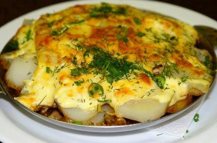 Курица по-французски рецепт  с картофелем и помидорами