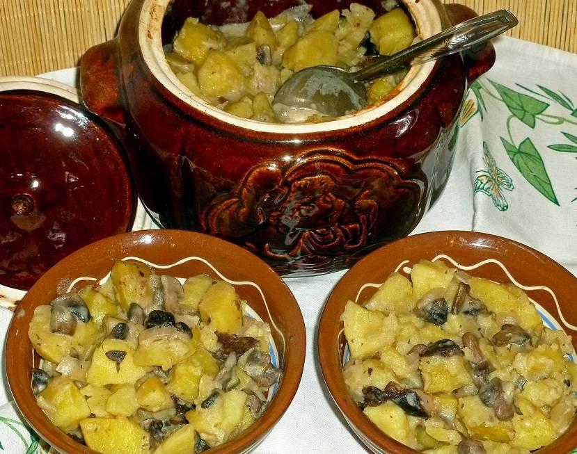Как приготовить картошку в горшочках