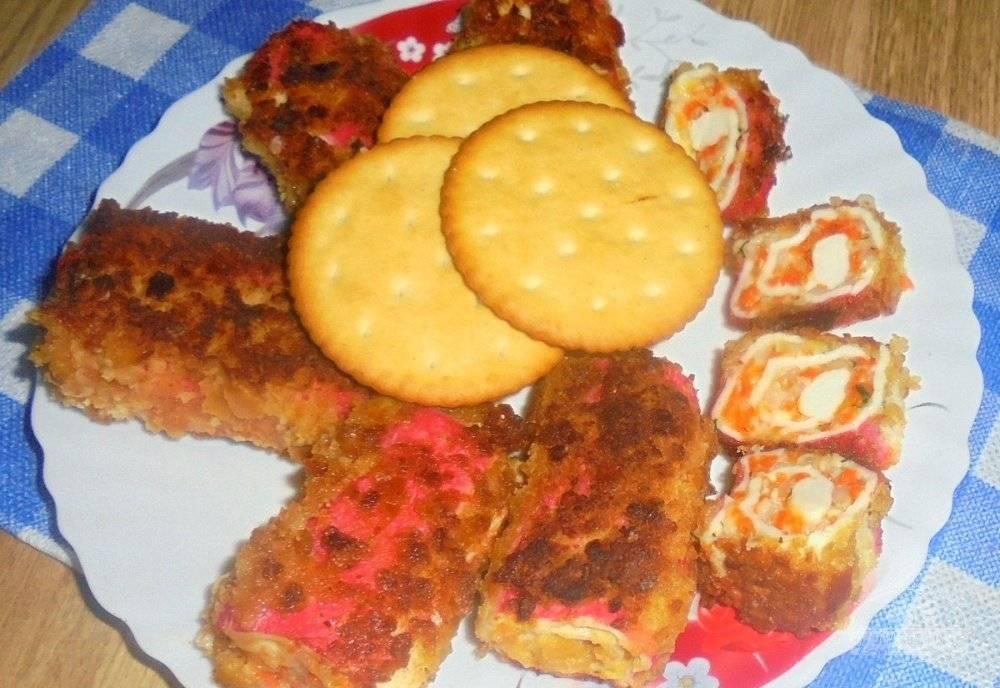 Фаршированные крабовые палочки: рецепты закуски