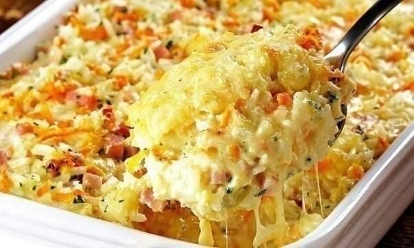 Картофельная запеканка с ветчиной и сыром. пошаговый рецепт с фото • кушать нет