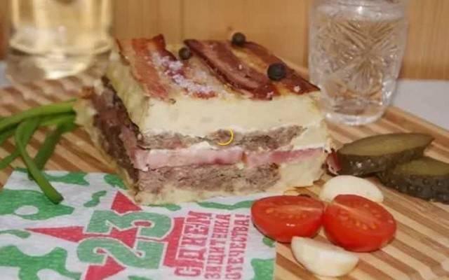 Торт без выпечки на 23 февраля