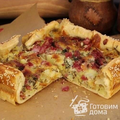 """Пирог """"сытный завтрак"""""""