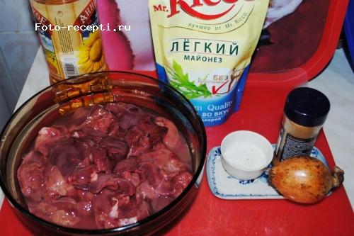 Куриная печень в бархатном соусе