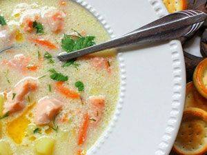Финский сливочный рыбный суп