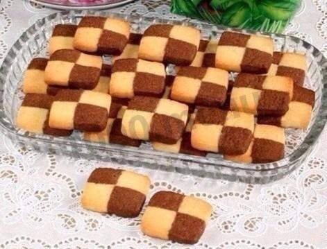 Шахматное печенье - рецепт с фотографиями - patee. рецепты