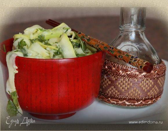 Вкусные маринованные кабачки быстрого приготовления