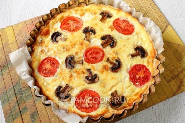 Рецепты лоранский пирог с курицей и грибами