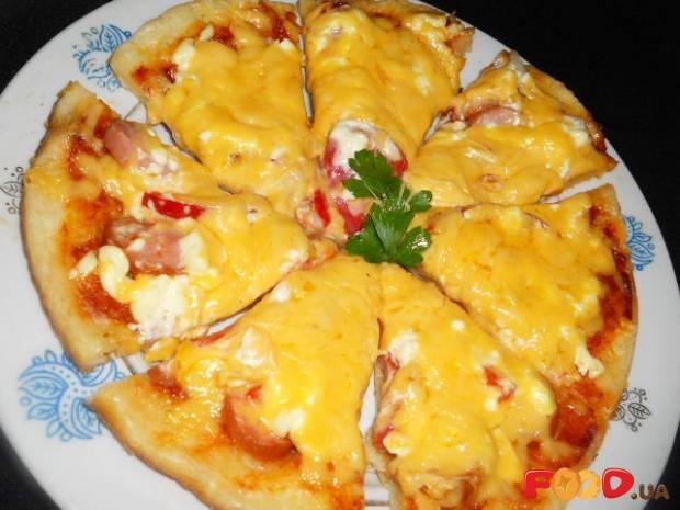 Пицца на сковороде за 10 минут — 10 быстрых пошаговых рецептов