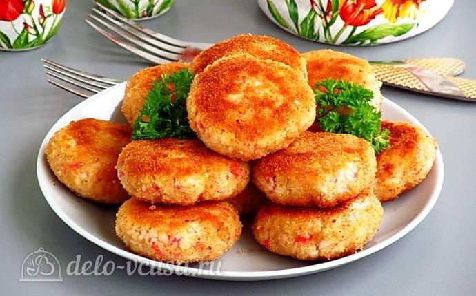 Котлеты из крабовых палочек с сыром рецепт