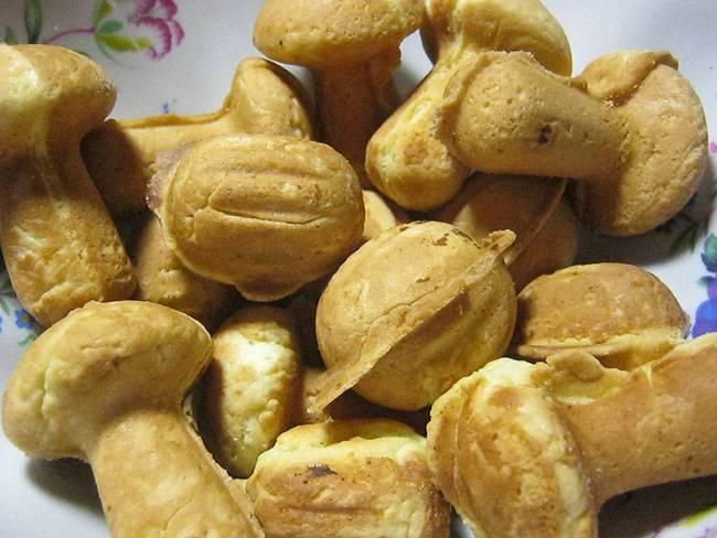 Печенье грибочки в форме на газу рецепт с фото