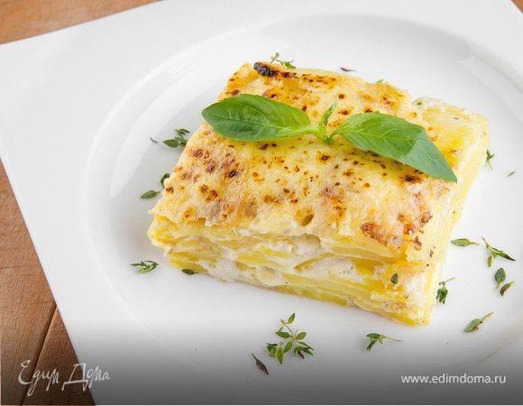 Гратен из картофеля по классическому рецепту и с курицей, фаршем, сыром, кабачком