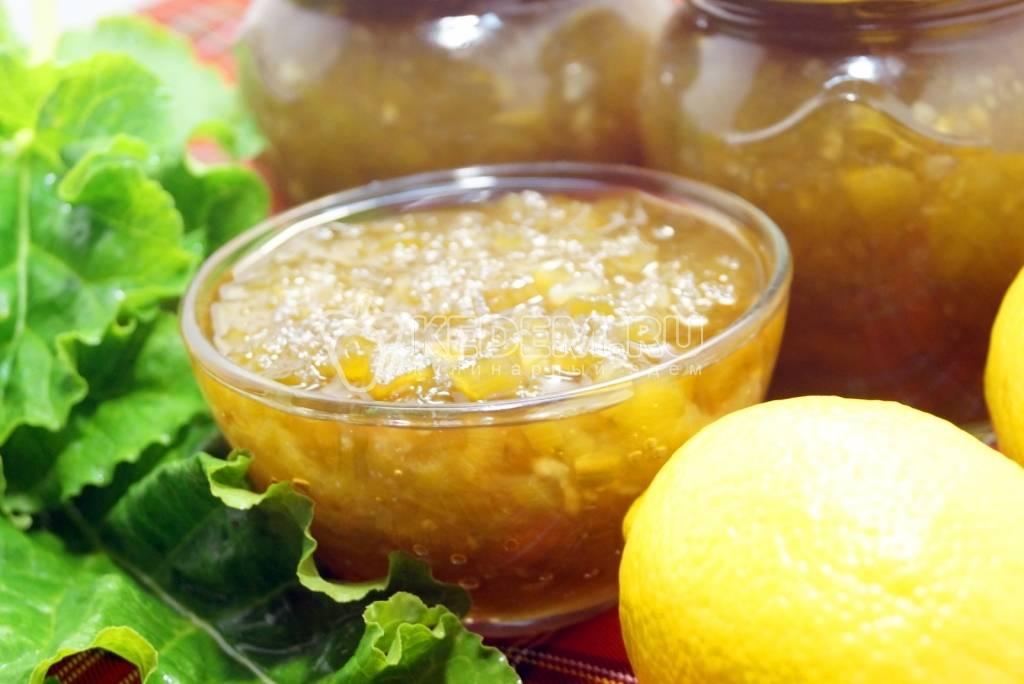 Варенье из ревеня: домашние рецепты приготовления на зиму