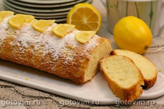 Кекс с лимонной начинкой