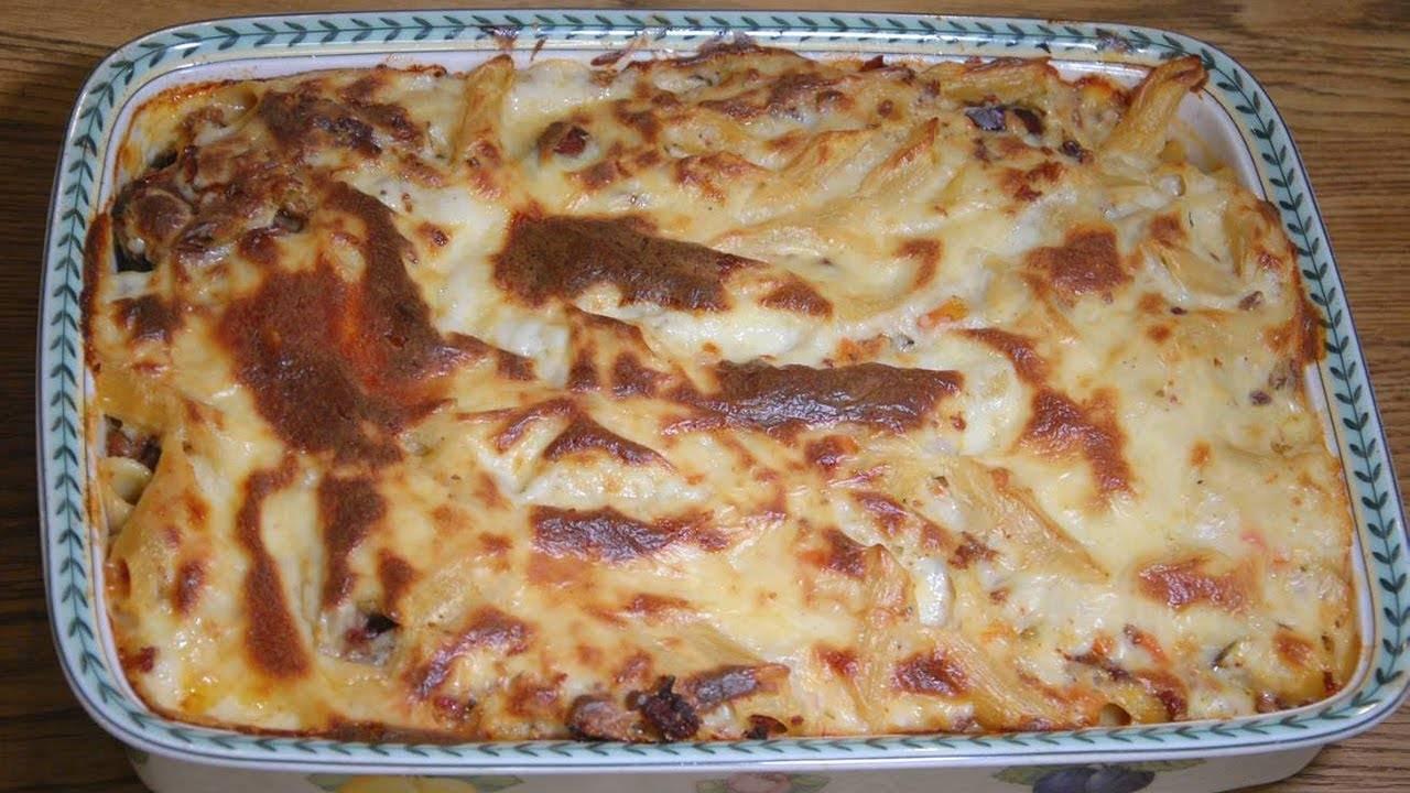 Лазанья с куриной печенью