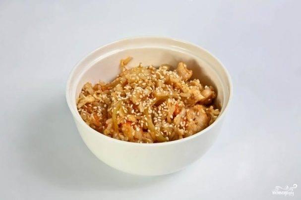 """Чесночный рис в """"шубке"""" из цуккини"""