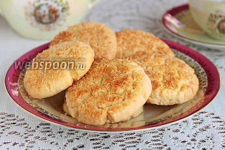 Хрустящие кунжутно-кокосовые печенья