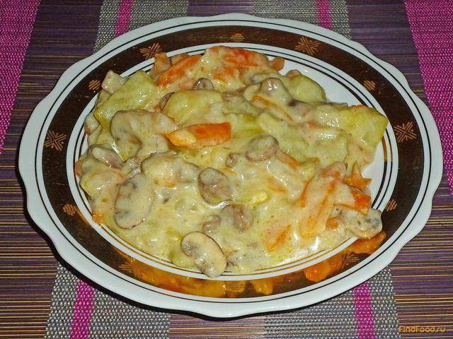 Овощное рагу с кабачками и грибами - 12 пошаговых фото в рецепте