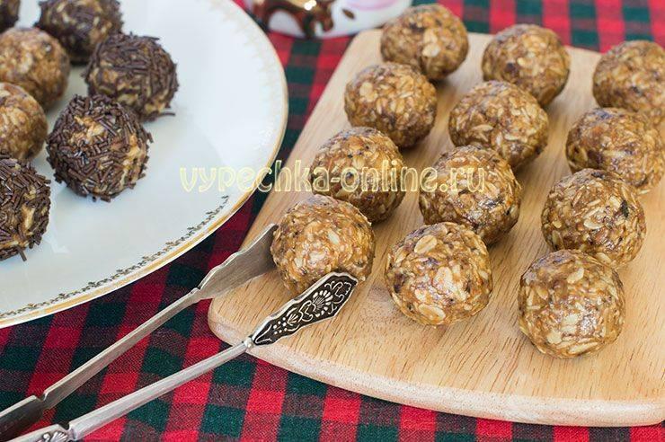 Овсяные конфетки-трюфели | страна мастеров
