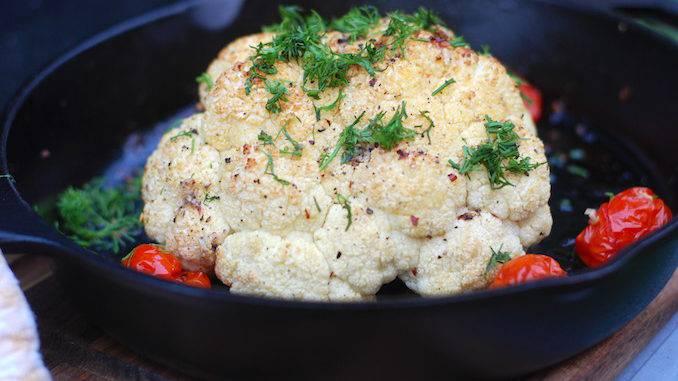 Цветная капуста в духовке с яйцом