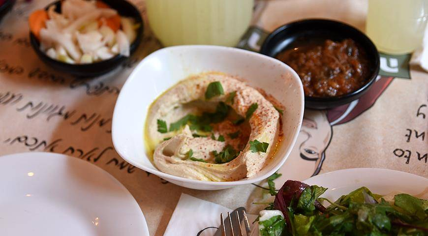 Фалафель на манер турецкого хумуса