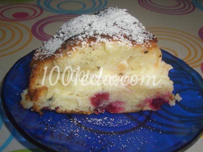 Ржаной творожно-брусничный пирог